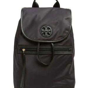 Tory burch nylon black backpack